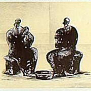 Henry Moore late 1970's special stone litho from Transworld Art for our Exhibition at Benjaman