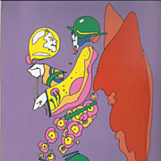 "peter max print  ""Floating Zen"" great shape museum mounted lowest price on the web"