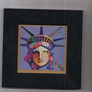 Peter Max print USA Liberty great shape museum mounted framed lowest price on the web