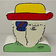 PETER MAX Zero Man Cookie Jar, Very Rare Collectible! Pop Art history 1 only