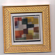"Agam print  ""In Time"" great shape museum framed lowest price on the web"