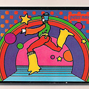 "peter max print  ""osmic Jumpert"" great shape museum framed Vip collectors gift from"