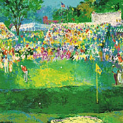 "Leroy Neiman golf print  "" US Open"" great shape museum framed Vip collector Golf gif"