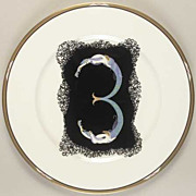 "Vintage antique Erte' plate  ""L Soliel Ebony"" 12"" Beauty - best of the Erte pla"