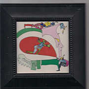 Peter Maxfk framed 1972 price Flying Zens 2 museum mounted