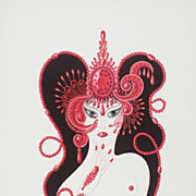 "Erte' ""Ruby"" precious Jew suite rare and red rich and romantic great gift"