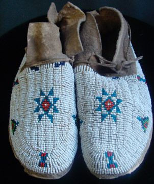 Arapahoe Beaded Moccasins
