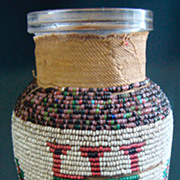 American Indian Beaded Bottle