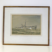 HMS Skua, watercolor painting by Cmdr. Eric Tufnell RN