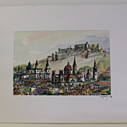 Salzburg Watercolor Painting by Press, 1991
