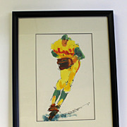 Ted Tanabe Baseball Pitcher watercolor painting