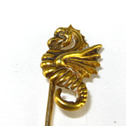 Antique Victorian 14K 14 karat Gold Seahorse Stick Pin