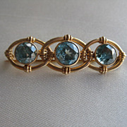 Gorgeous Blue Zircon Brooch