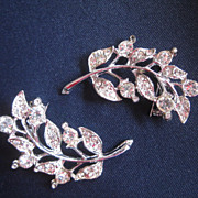 Set of Two Rhinestone Pins