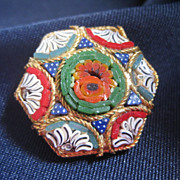 Colorful Micro Mosaic Pin