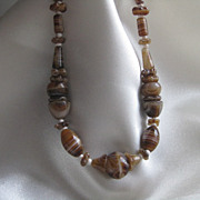 Vintage Victorian Glass Bead necklace