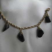 Vintage tumble stone and gold filled Bracelet