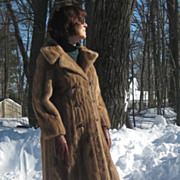 Vintage Honey Brown Mink Coat