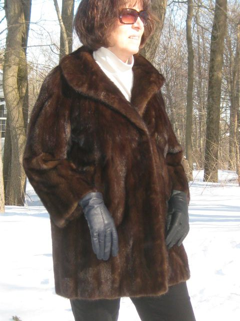 Supple Chocolate Brown Mink Coat