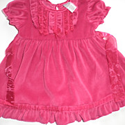 SOLD Doll Clothes - Vintage Baby Dress Size 6 mos