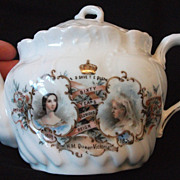 SOLD Rare 1897 Queen Victoria Diamond Jubilee Tea Pot - Bone China, Genuine Item - Lovely Desi