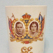 SOLD Original Royalty - 1937 George VI Coronation Beaker - Made by Maling