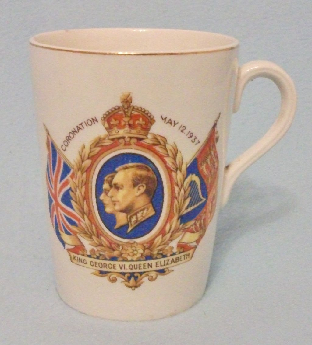 "Original Royalty - King George VI Coronation 1937 Mug - ""Long May They Reign"""