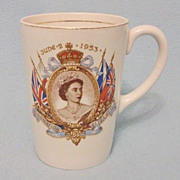 SOLD Original Royalty - Queen Elizabeth II Coronation Mug - June 2nd 1953