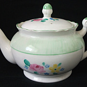 Gorgeous Hand Painted Vintage Bone China Teapot - Floral Pattern, English, Charming Size
