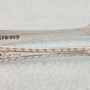 Beautiful Vintage Silver Plated Sugar Tongs - Lovely Arm Engraved Pattern