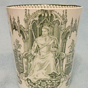 SOLD Queen Victoria 1897 Diamond Jubilee Beaker - Doulton Burslem - Excellent Condition