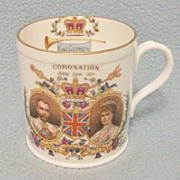 SOLD Original King George V 1911 Coronation Mug - Made by Shelley - Beautiful!
