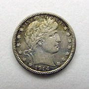 1914D Barber Silver US Quarter
