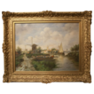 Lovely Village and Water Scene oil painting