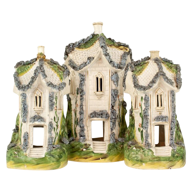 English Staffordshire Cottage Set