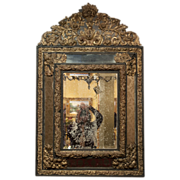 REDUCED 19th Century Dutch Baroque Mirror