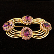 SALE PENDING Vintage Purple Corocraft Pin / Brooch