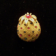 SALE Vintage Signed Ciner Pineapple Brooch / Pin