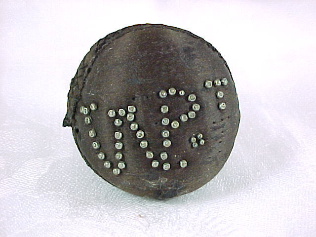 Antique Black Silk Pinball Pin Cushion, Initials in Old Pins