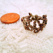 Vintage Flower Ring, Sterling Silver 925 Flower ring size 9 vintage jewellery