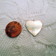 Vintage Heart Charm or Pendant, Sterling silver 925 vintage jewellery silver charm Engravable