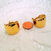 Vintage Clip on Earrings, Signed Designer Napier clip/screw on earrings, Vintage Jewelry Gold