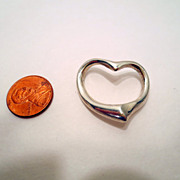 Vintage Heart pendant, Sterling Silver Marked 925 Vintage jewellery