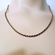 Heavy and thick Sterling Silver Braided Style Necklace Chain Signed Italy 925 Vintage jeweller