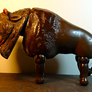 Painted Eye Schoenhut Buffalo -- Excellent+++