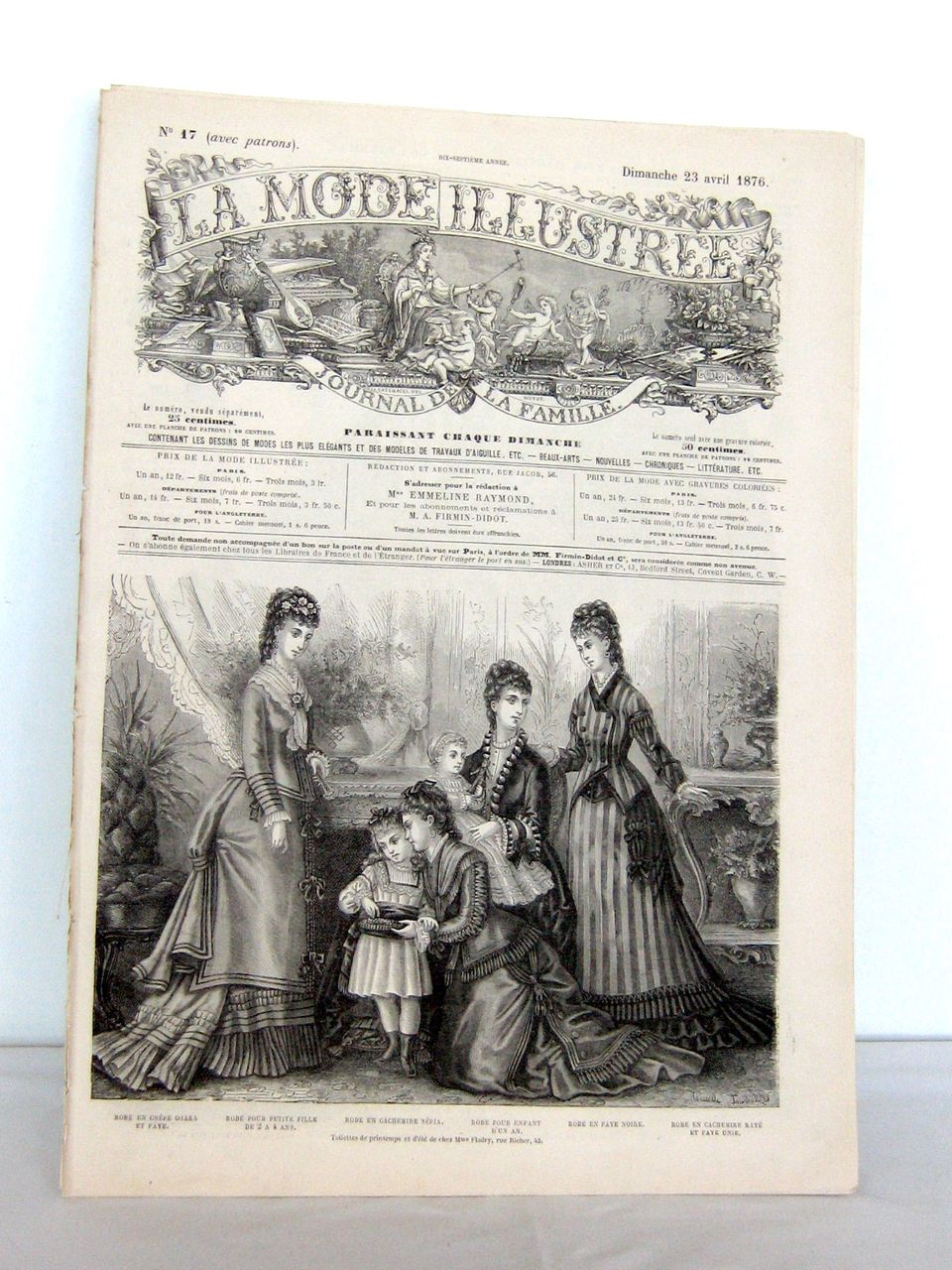 "19th Century ""La Mode Illustr�e, journal de la famille"""