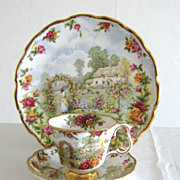 Absolutely Stunning Royal Albert Set � Celebration of the 25th Anniversary of Old Country Rose
