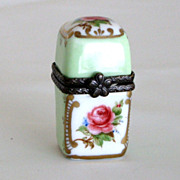 SOLD Vintage German Miniature Porcelain Perfume Box with a bottle