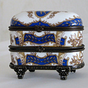 SOLD Unusual Porcelain Vintage Trinket Box
