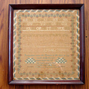 SOLD Fine 19th Sampler by Jane Amelia Searing age 10